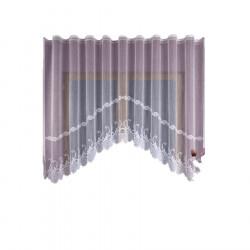 Firanka gotowa żakardowa 015187 - 160x460 cm - biała