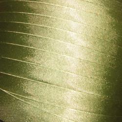 """Firanka szyta z woalu """"Jadwiga"""" - 180x400 cm - biała/zielona"""