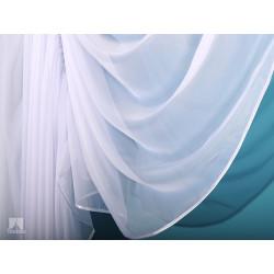 """Firanka szyta z woalu """"Wiera P"""" - 250x250 cm - biała"""