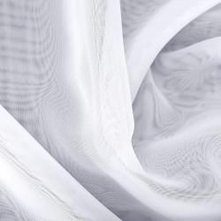 """Komplet kuchenny szyty z woalu """"Fiorella"""" - 80x300 cm + (50x150 cm)*2 - biały"""