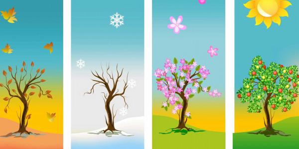 Cztery pory roku we wnętrzu
